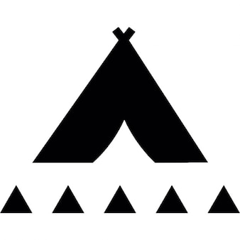Tribal tent with small triangles