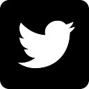 Twitter logo on black background