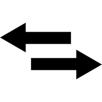Two arrows pointing right and left