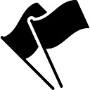 Two black flags