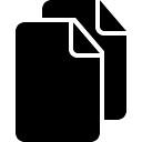 Two black paper sheets symbol
