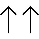 Two up arrows