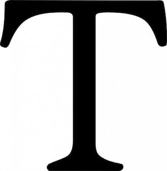 Typografic serif letter