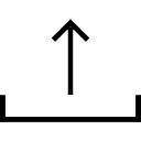 Up arrow from a tray interface symbol