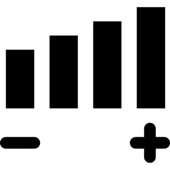 Volume adjustment symbol