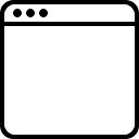 Window square empty outlined interface symbol