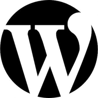 Wordpress logo of a letter in a circle