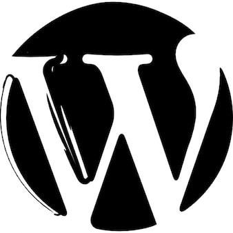 Wordpress sketched logo