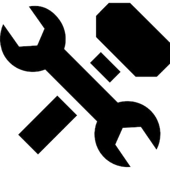 Wrench and hammer cross
