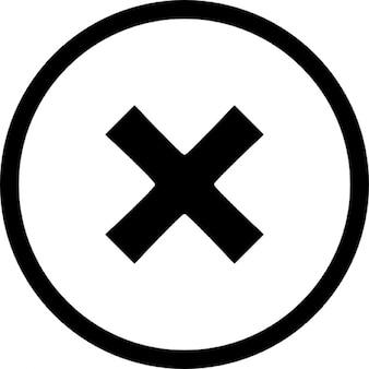 X circle