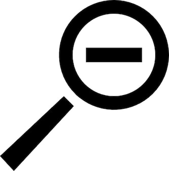 Zoom out symbol