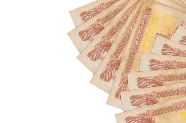 1 ukrainian coupon bills lies isolated on white