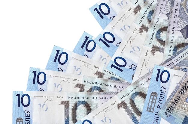 10ベラルーシルーブル手形は分離された異なる順序にあります。ローカルバンキングまたは金儲けの概念。