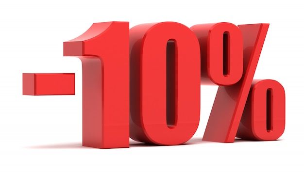 10 percent discount 3d text