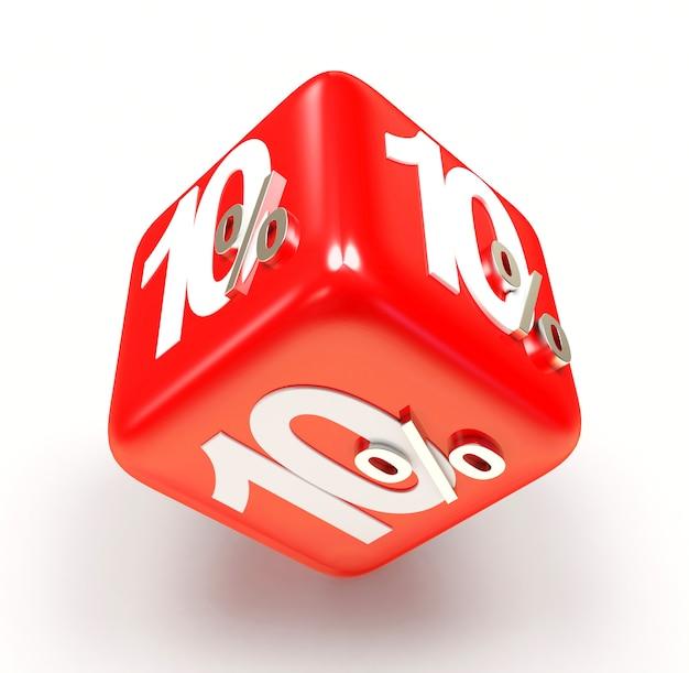 10 процентов на красном кубе продажи
