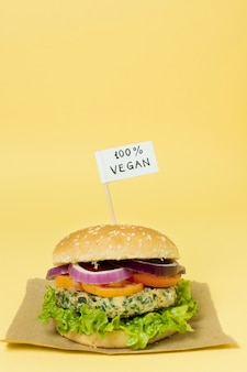 100% vegan burger
