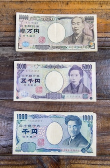 1000, 5000, and 10,000 yen bank notes