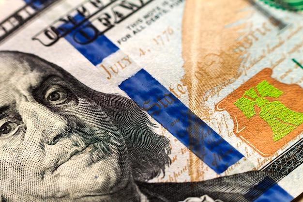 米国の100ドル札のお金の背景