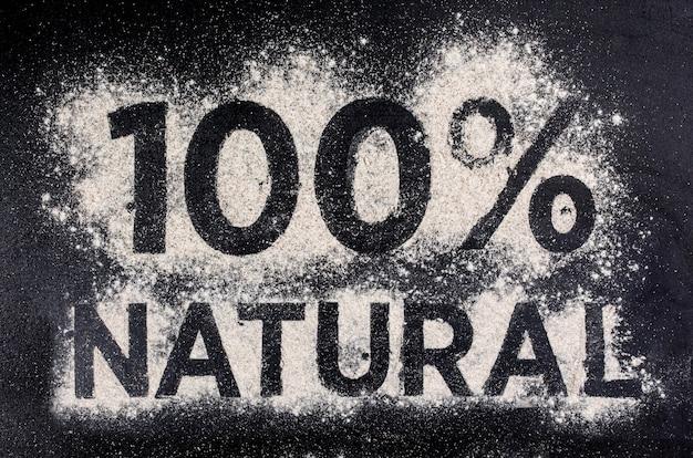 100天然グルテンフリー食品、小麦粉で作られた言葉