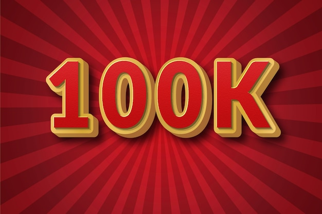 10万人のフォロワーの画像