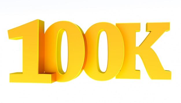 100k 또는 100000 추종자 감사합니다.
