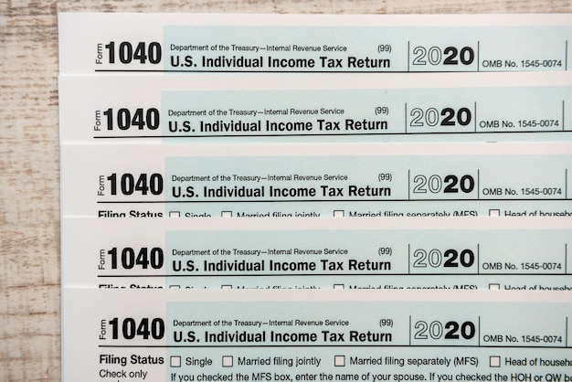 1040 tax form close up financial document tax time