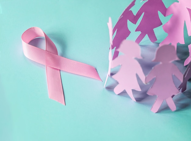 10月にキャンペーンを推進するための乳癌意識啓発シンボル