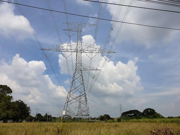 115kv highvoltage electrical transmission tower