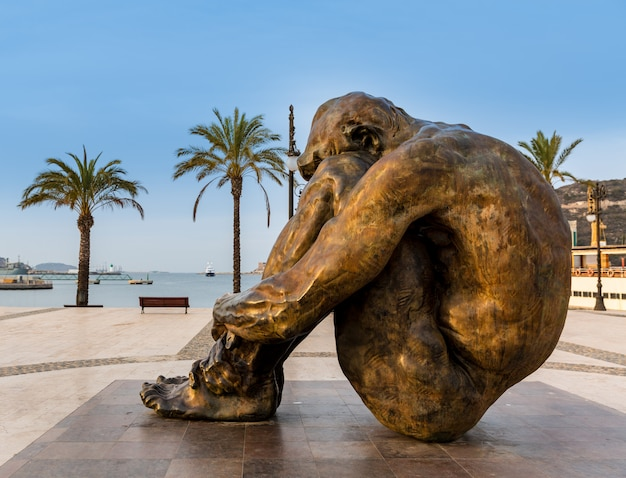 11m memorial sculpture at cartagena of spain