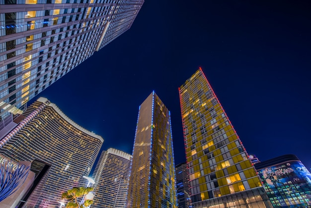 Лас-вегас - 12 декабря 2013 года: знаменитые казино лас-вегаса на decem