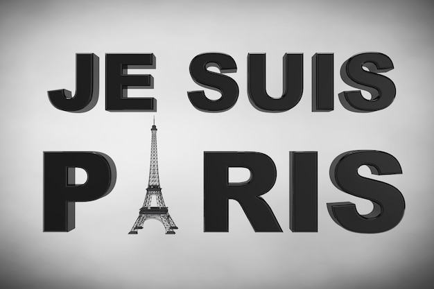 13 november 2015 concept. pray for paris sign on a white background