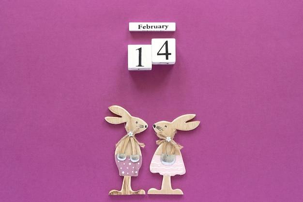 Календарь деревянных кубиков 14 февраля