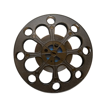 16 mm motion picture film reel isolated
