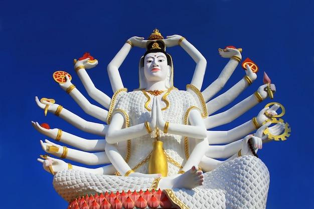 18 hands god statue in samui in thailand