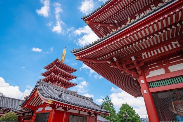 Асакуса, токио, япония - 19 июня 2018 года - сэнсодзи - древний буддийский храм в дневное время в асакуса, токио, япония.