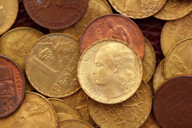 アンティークリアルオールドスペイン共和国1937通貨コインペセタ
