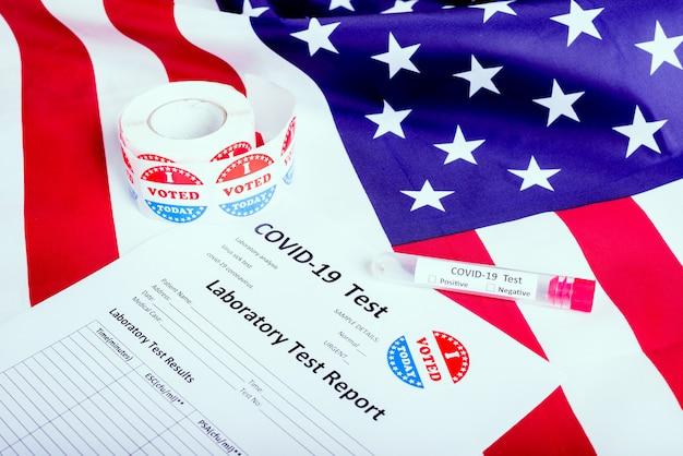 激しい流行に直面して医学的決定を待っている米国の大統領選挙19