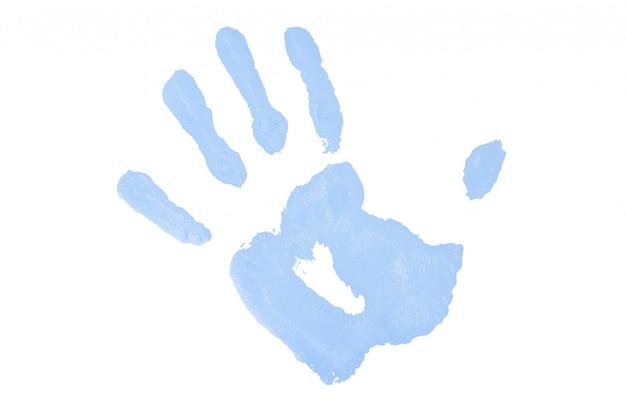 1つの青い手すり
