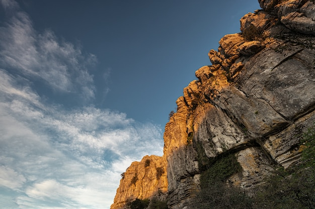 トルカルデアンテケラナチュラルパークには、ヨーロッパで最も印象的なカルスト風景の1つがあります。この自然公園はアンテケラの近くにあります。スペイン。