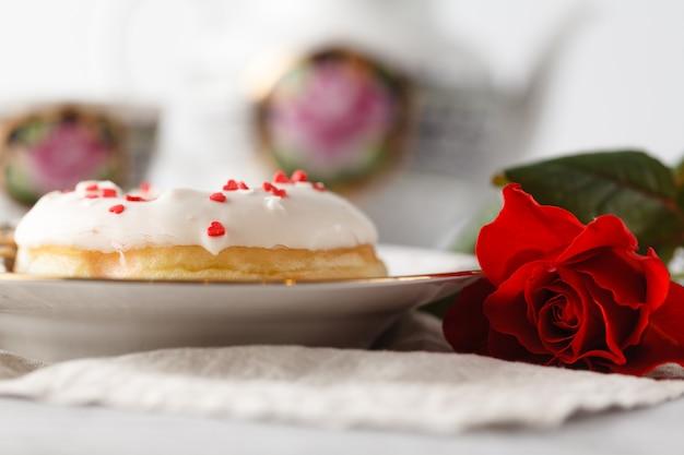 バレンタインデーに存在するドーナツ1個