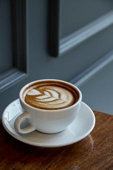 ハート柄のコーヒー1杯