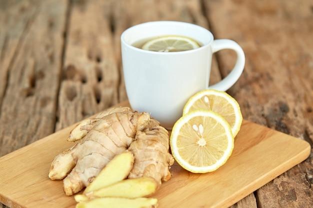 レモンと生姜の紅茶1杯