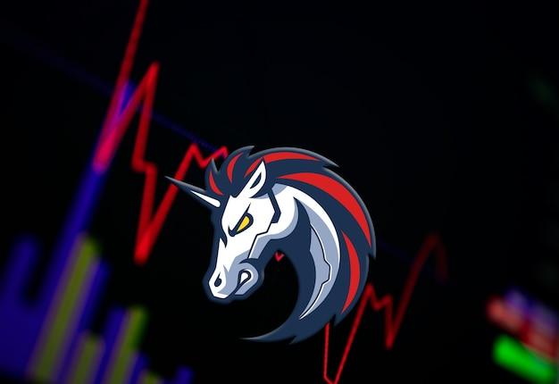 交換チャートの1インチ1インチ暗号通貨コイン成長チャート