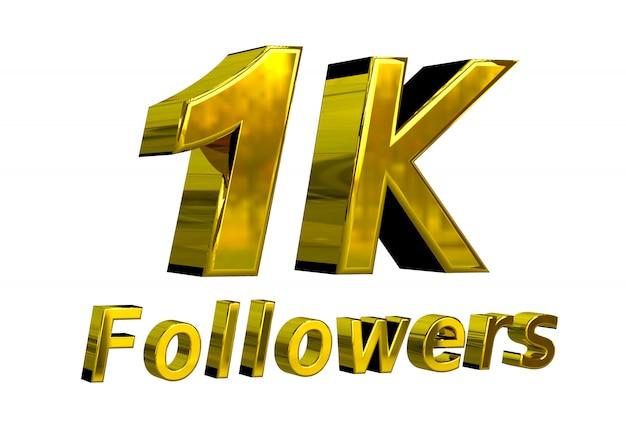 Баннер празднования 1k подписчиков для использования в социальных сетях
