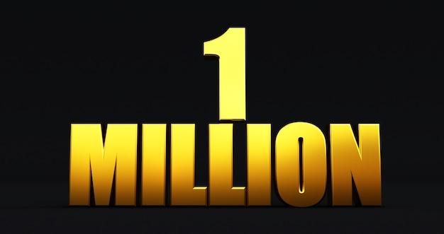 1m, 1million celebration like or follower