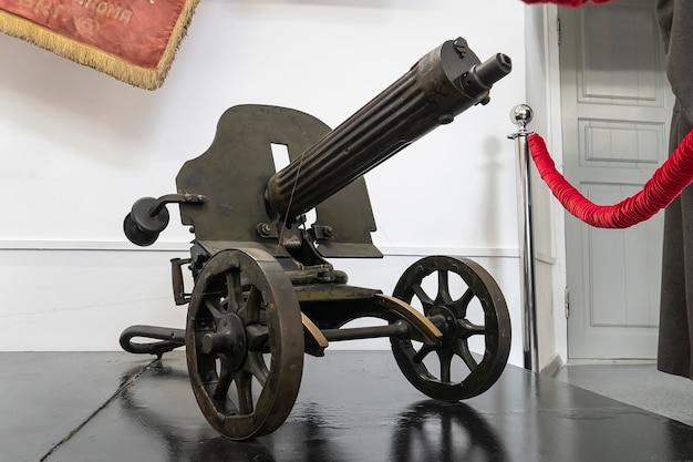 20.05.2021。ロシアバルナウル。マキシム機関銃。第一次世界大戦の機関銃。