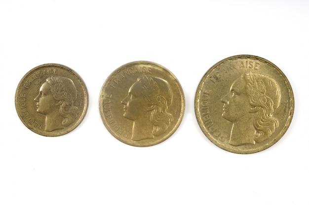 20世紀、10代、30代、50代のフランスの通貨