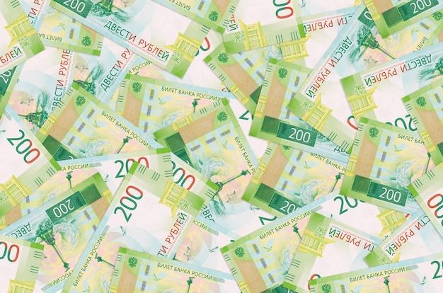 200ルーブルの請求書は大きな山にあります。巨額