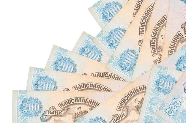 200ウクライナグリブナ法案は分離された異なる順序であります。ローカルバンキングまたは金儲けの概念。