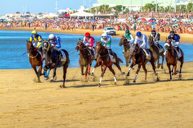 Конные скачки на санлукар, баррамеда, испания, 2016
